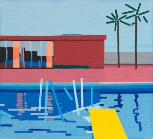 © Guy Yanai, Last Splash, 2015, oil on linen, 64 x 70 cm
