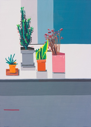 © Guy Yanai, Kitchen, 2015, oil on linen, 148 x 120 cm