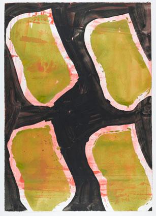 Berville éditions // Claude Viallat, Sans titre, 2009, lithographie, sur 24, 61 x 87 cm