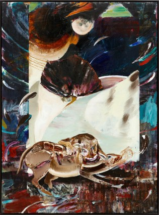 © Adrian Ghenie, The Hungry Lion, 2015, Oil on canvas, 230 x 170 cm (90,55 x 66,93 in), photo : Jörg von Bruchhausen