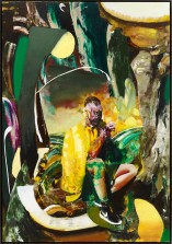 © Adrian Ghenie, Self-Portrait Smoking, 2015 Oil on canvas, 230 x 160 cm (90,55 x 62,99 in), photo : Jörg von Bruchhausen