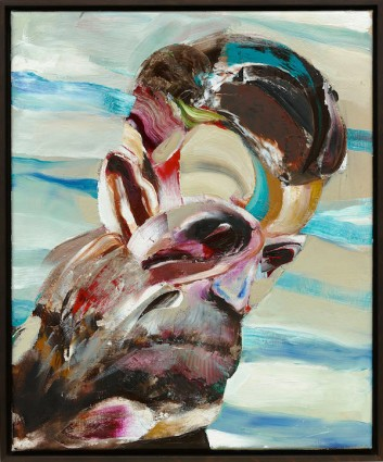 © Adrian Ghenie, Self-Portrait as Monkey, 2015 Oil on canvas, 45 x 37 cm (17,72 x 14,57 in), photo : Jörg von Bruchhausen