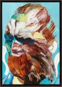 © Adrian Ghenie, Lidless Eye, 2015, Oil on canvas, 43 x 30 cm (16,93 x 11,81 in), photo : Jörg von Bruchhausen