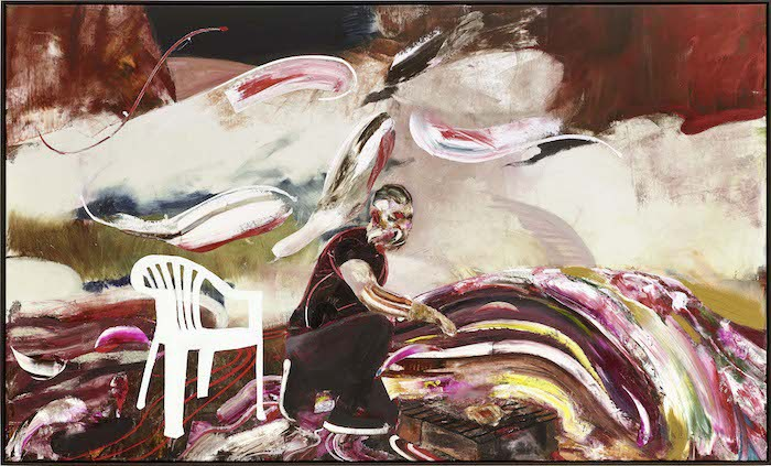 © Adrian Ghenie, The Picnic, 2015, Oil on canvas, 180 x 300 cm (70,87 x 118,11 in), photo : Jörg von Bruchhausen