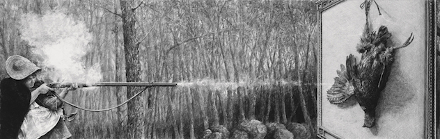 © Ethan Murrow, Guerilla Reveille, graphite sur papier, 48,2 x 152,4 cm