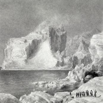 © Ethan Murrow, Goldrush, série Ice mining, 2014, graphite sur papier, 91 x 91 cm, pièce unique