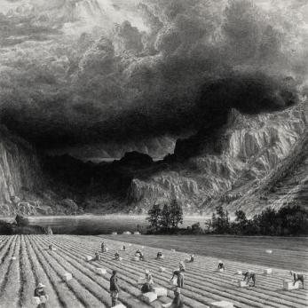 © Ethan Murrow, Expansion, série 100 ans de solitude, graphite sur papier, 2015, graphite sur papier, 91 x 91 cm, pièce unique