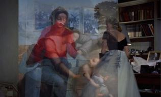 © Laurent Fiévet, States of Grace 5 - La Vierge, l'Enfant Jésus et Sainte Anne 2015, montage vidéo HD, couleur, son, 21'01'', vin, édition de 5 + 2 EA