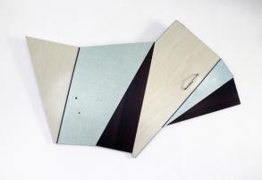Cécile Chaput, Flat-Burst, 2015, 100 x 93 x 3 cm