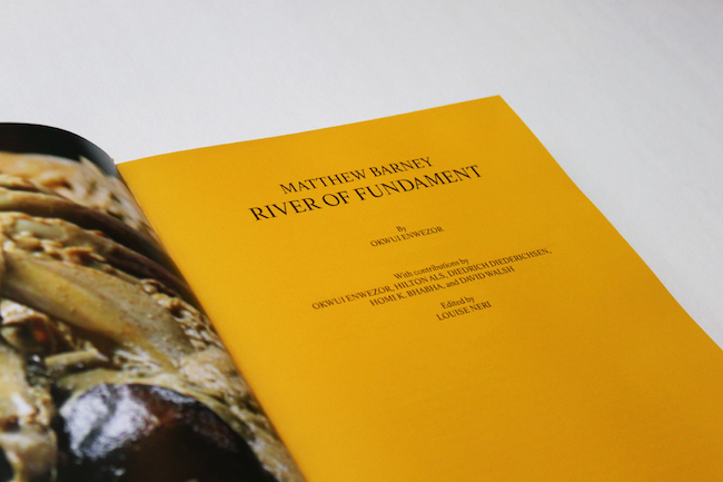 River of Fundament by Matthew Barney, 2014, Skira Rizzoli Publications © Camille Tallent