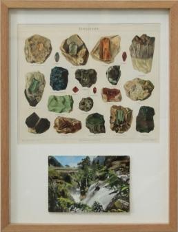 © Edouard Wolton, MinCéralogie, 2014, lithographie XIXe, carte postale, passe-partout sous cadre, 32 x 42 cm