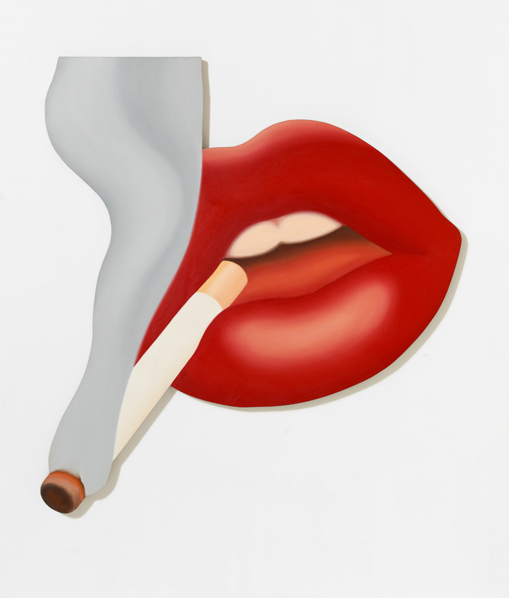 Tom Wesselmann, Smoker #3 (Mouth #17), 1968 © Courtesy del'Estate de Tom Wesselmann et Galerie Almine Rech